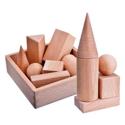 Набор геометрических тел  - 7 дет. в дер. коробке