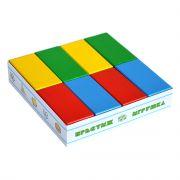 Кирпичики цветные - 16 дет. в картонной коробке